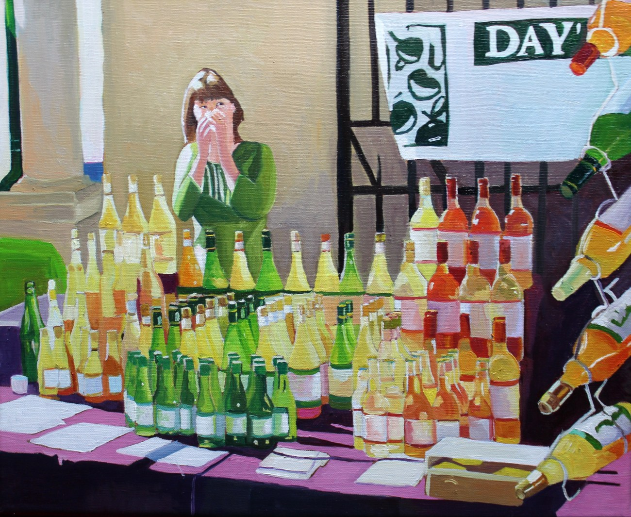 Painting of a Stall at Stroud Farmers Market