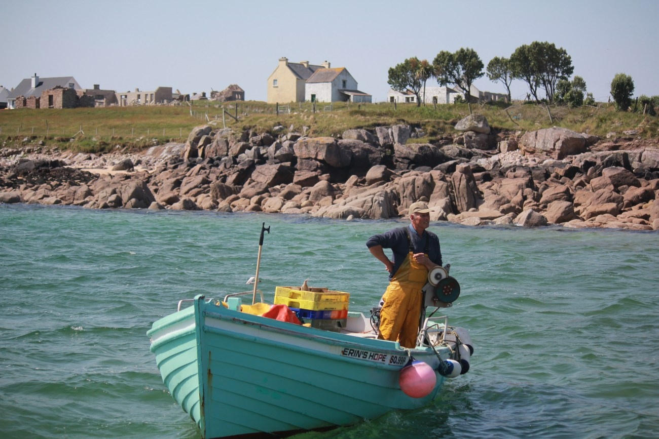 Fisherman off Gola