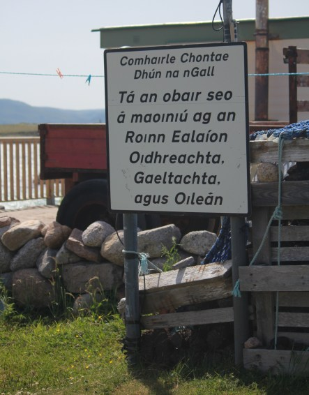 Gola is part of the Gaeltachta - an Irish speaking area of Donegal.