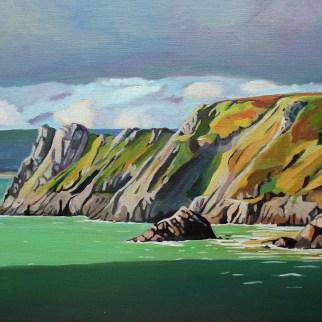 Gower landscape painting_Emma Cownie