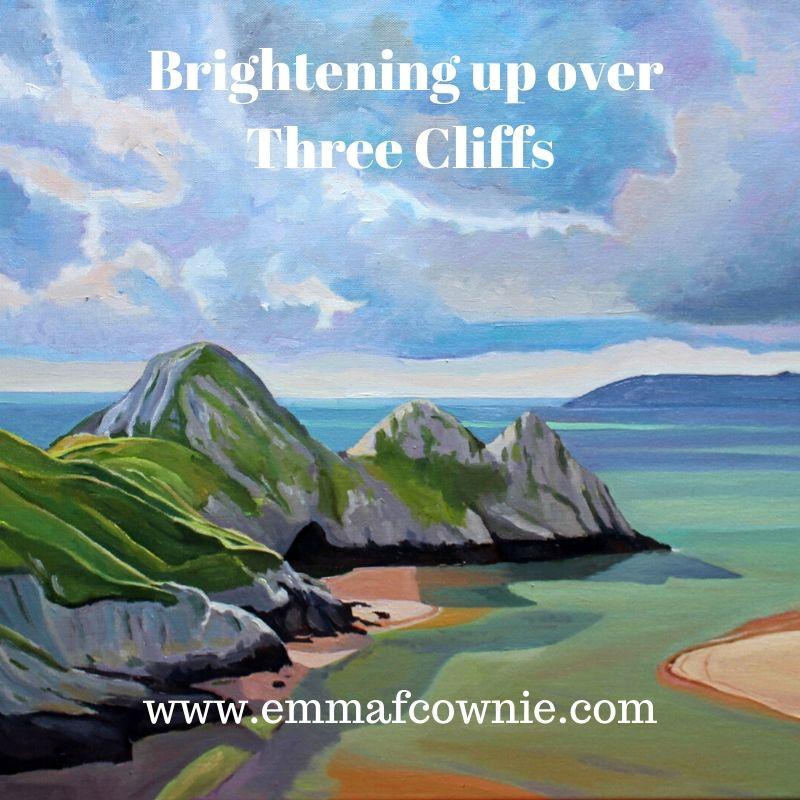 Brightening Up Over Three Cliffs Bay