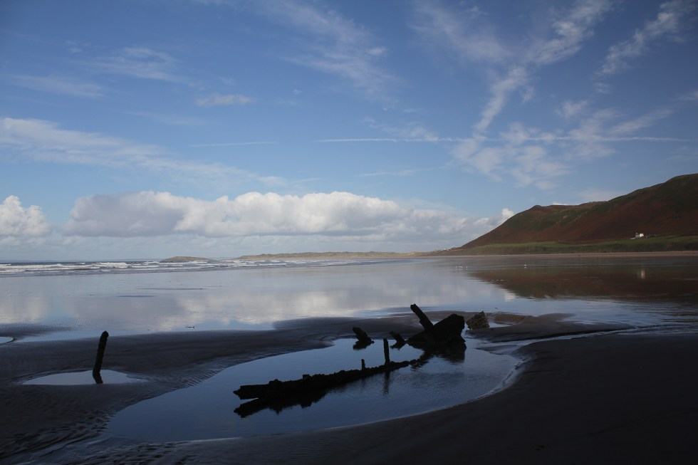 Another Wreck on Rhossili Bay