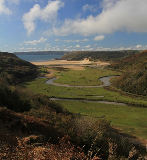 Pennard Pill in sunshine