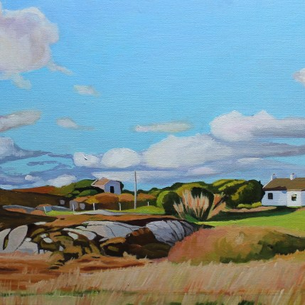Painting of Donegal landscape, Ireland