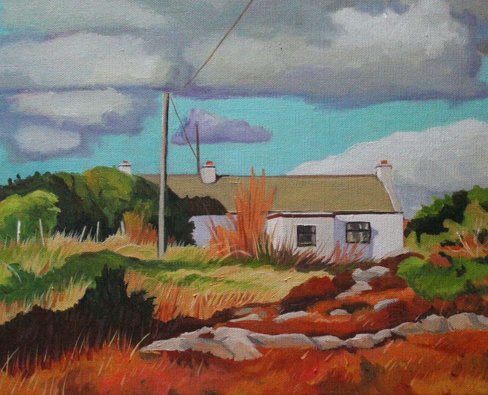 Painting of Cottage in Donegal, Ireland