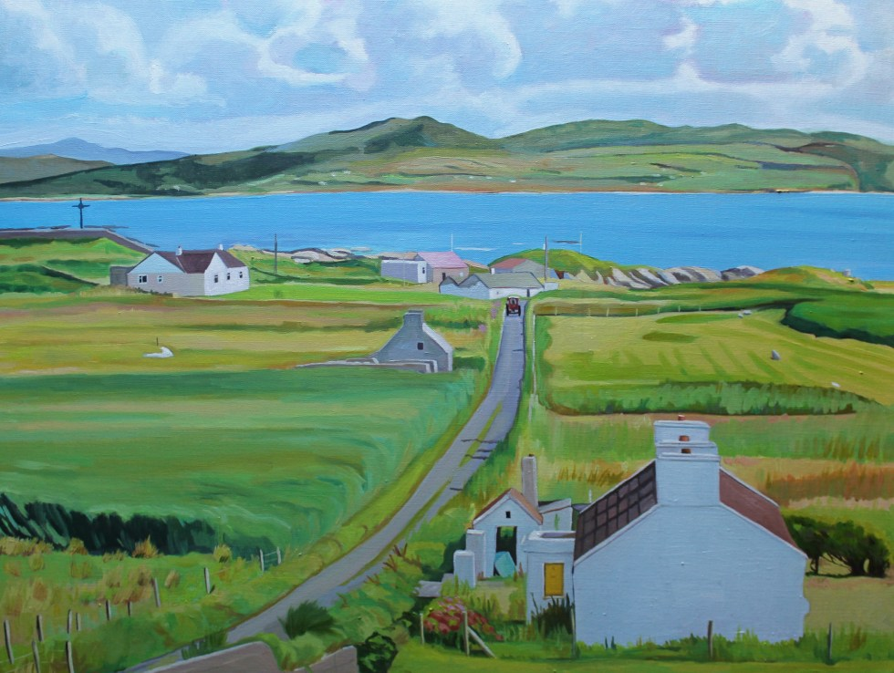 landscape painting of Arranmore Island, Ireland