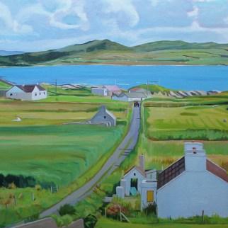 landscape painting of Arranmore Island_Ireland_Emma Cownie