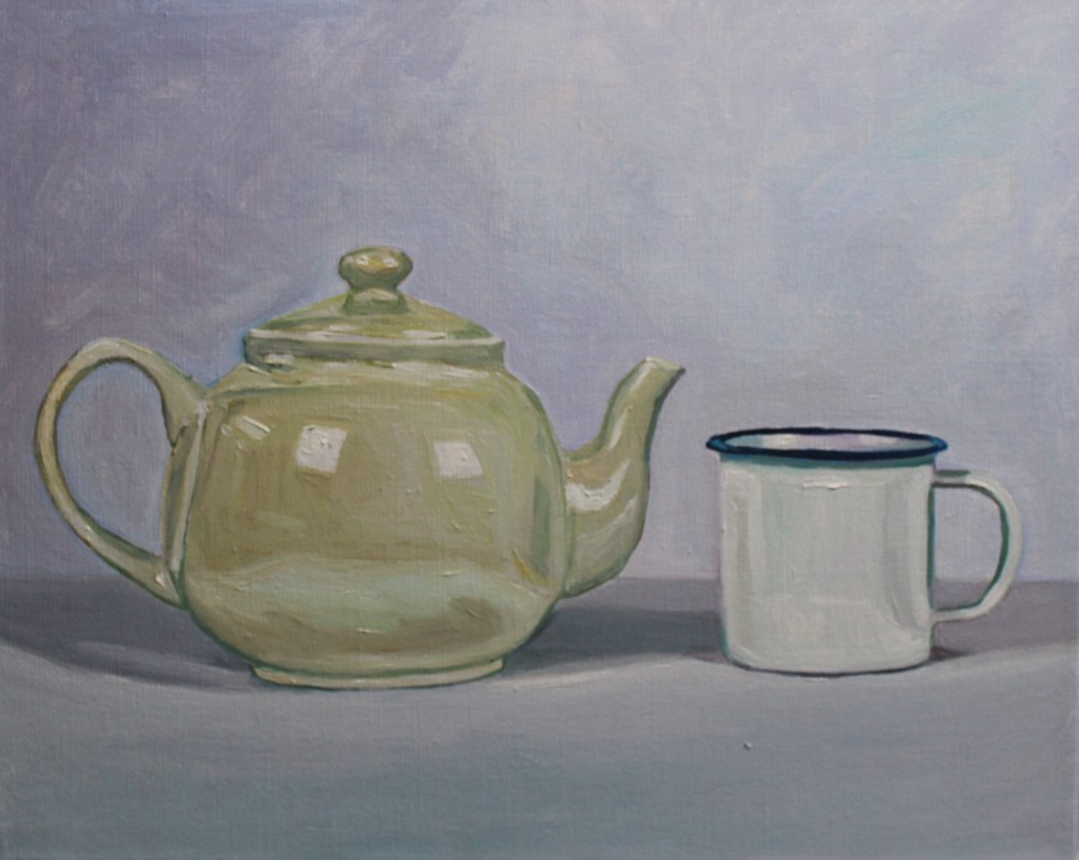 Still life - cup and teapot