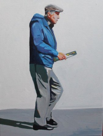 Swansea People painting by contemporary artist Emma Cownie