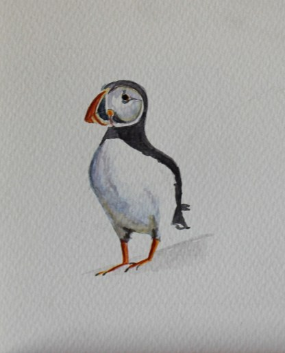 Painting of a Puffin