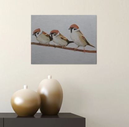 The Three Sparrows (in situ)