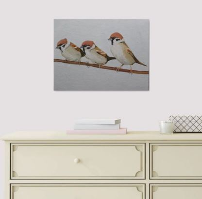 The Three Sparrows (in situ)