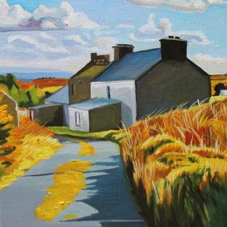 Painting of old cottage on Arranmore, Donegal_Emma Cownie