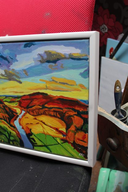 Painting of Symonds Yat, Autumn_ Emma Cownie