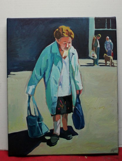 Painting of Swansea old lady On