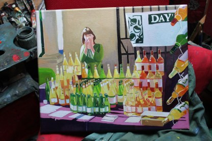 Painting of Stroud Farmers Market