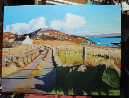 Painting of Poolawaddy, Arranmore, Ireland