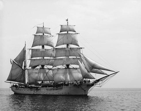 Three-masted barque