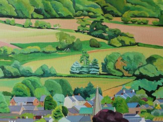 Painting of Crickhowell, Wales by Emma Cownie