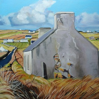 Painting of an old cottage on Arranmore, Donegal