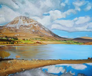 Painting of Mount Errigal in Donegal