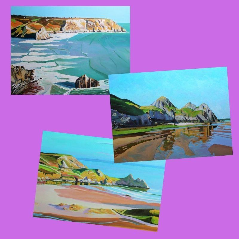 Donated Prints of Three Cliffs Bay