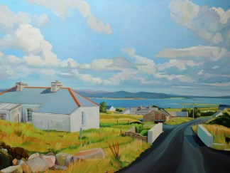 Landscape painting of Arranmore by Emma Cownie