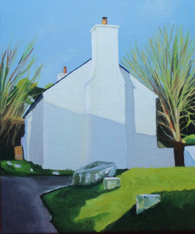 Painting of a Penrice Cottage by Emma Cownie