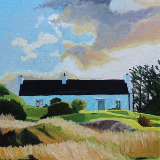 Oil painting of an Irish Cottage