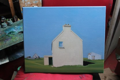 Painting of house on Gola