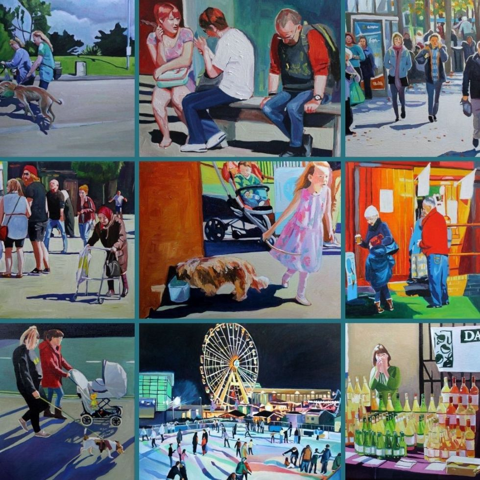 "Some of my ""people"" paintings sold in 2020"