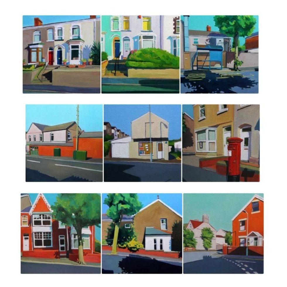 Urban Minimal Paintings by Emma Cownie