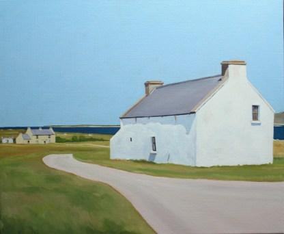 Painting of Irish Cottage on Gola, Gweedore