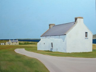 Painting of Irish Cottage on Gola, Gweedore