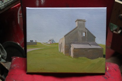 Painting of houses on Gola (Donegal, Ireland)