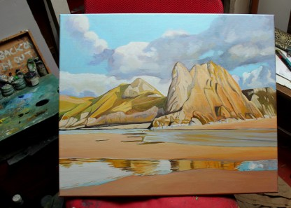 The Pyramid, Three Cliffs Bay, Gower (in studio)
