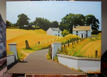 Painting of Fram house, On the Road to Maghera