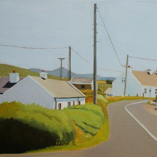 Painting of houses Meenacladdy Donegal Ireland