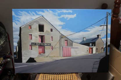 Painting of Football Special Building, Ramelton Donegal