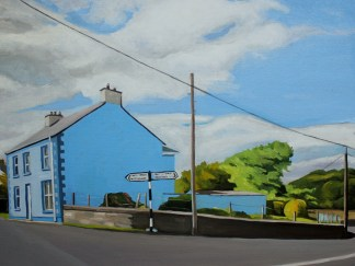 Oil painting of Ramelton Donegal by Emma Cownie