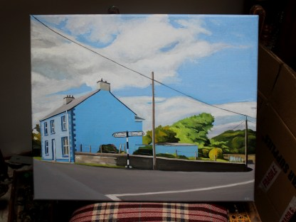 painting od house in Ramelton, Donegal
