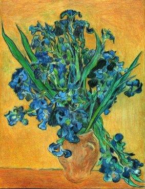 art, van gogh, iris
