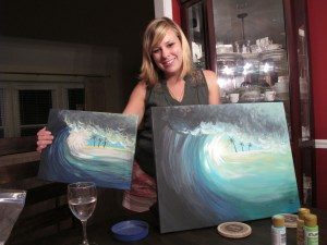 art, arts night, painting, sips and strokes