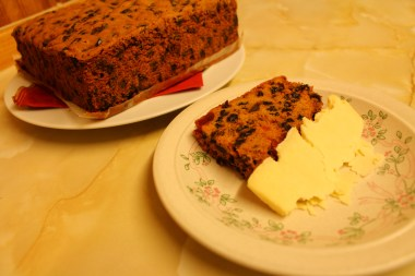 'Christmas cake' con 'Wensleydale cheese'