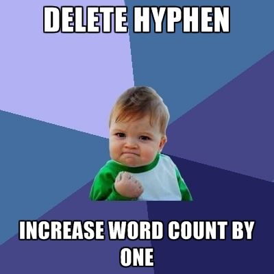 delete-hyphen-increase-word-count-by-one