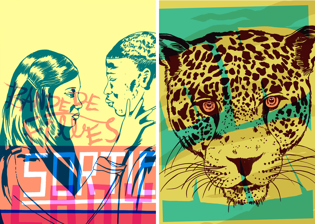 Joseph Vass Screen Print Yellow Leopard