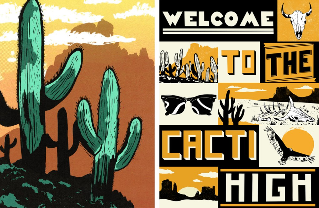 Joseph Vass Illustration Cacti High