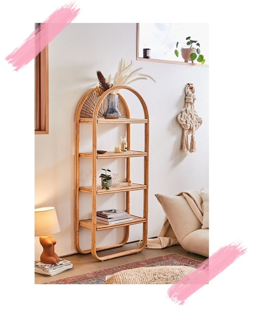 Seventies Bohemian Rattan Bookcase from Urban Outfitters