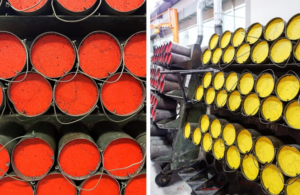 coloured pencils at caran d'ache factory