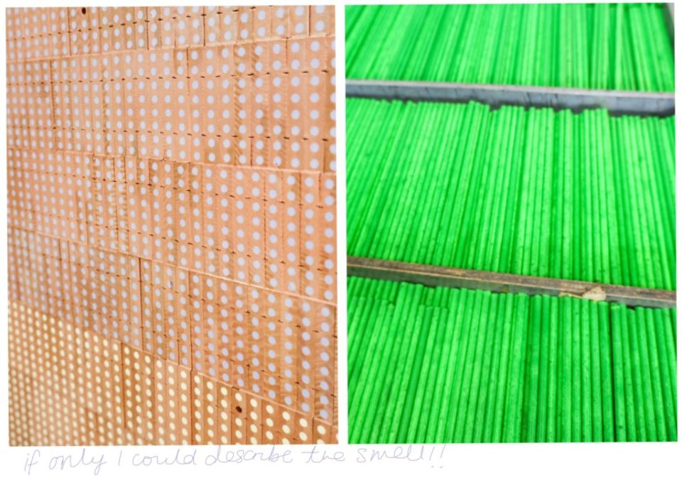 pencils in cedarwood blocks at caran d'ache factory
